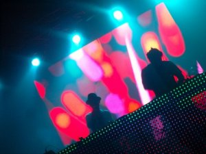 me and sinamon on the main stage at culture one rave